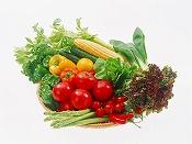 市場での青果・果物の販売